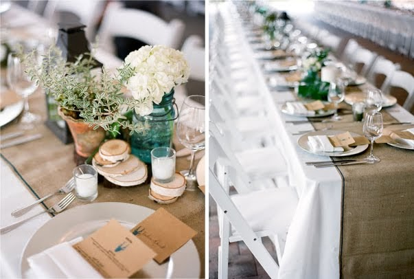 A Summer Picnic Wedding Hessian Table Runners