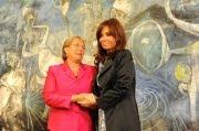 Con Bachelet en Chile