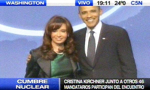 Cristina y Obama