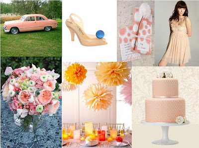 A Peach Wedding Inspiration Board ~ UK Wedding Blog ~ Whimsical Wonderland Weddings