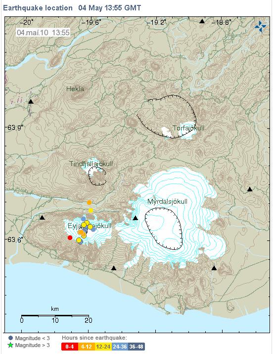 iceland volcano map. Iceland#39;s Eyjafjallajökull
