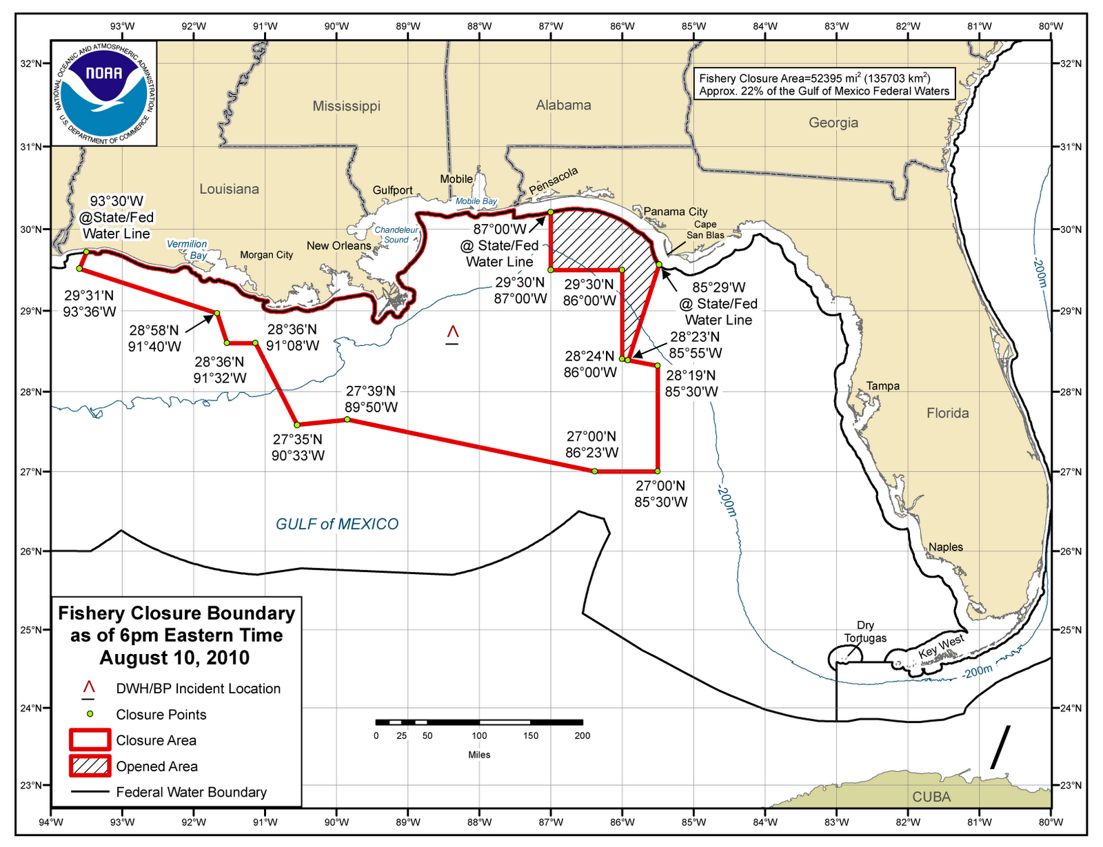 NOAA has reopened 5,144 square miles of Gulf waters to commercial and recreational finfish fishing. The reopening was announced after consultation with FDA ...