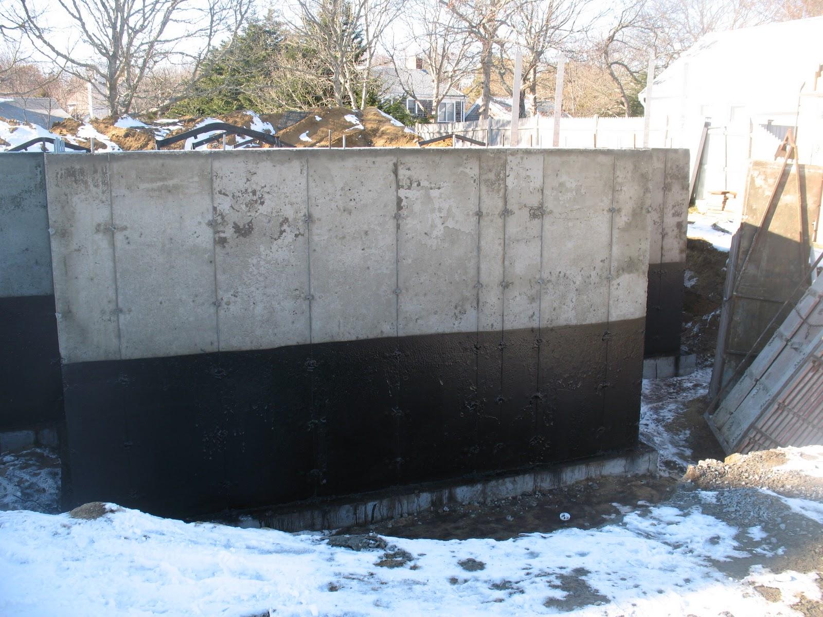 Foundation Damp Proofing Walls : Net zero energy cape cod foundation walls damp proofing