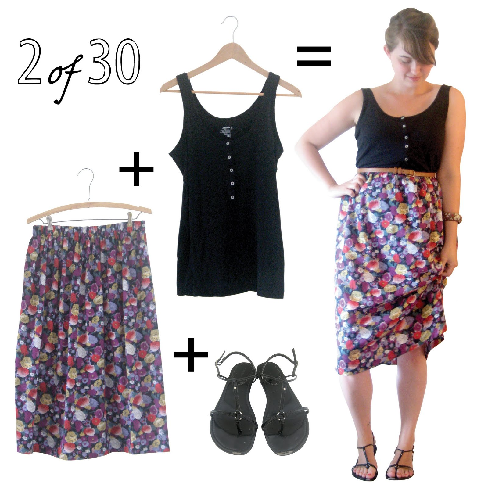 Black sandals old navy - Remix Items Black Tank Old Navy Clearance Floral Skirt Thrifted Black Sandals Ross Spices Belt Thrifted Painted Bangle Had It Since I