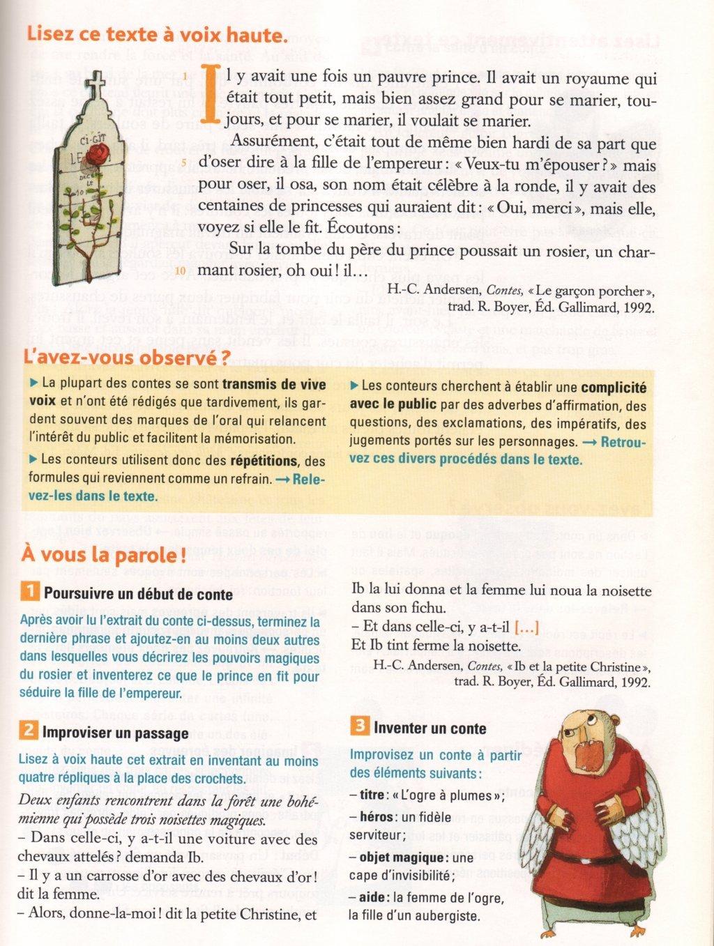 Des exercices pour écrire - Le français en 6ème