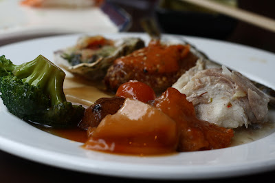 random food. sea cucumber, abalone and pregnant fish?
