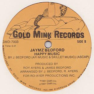 Jaymz Bedford  -  Happy Music 1981 12 Inch