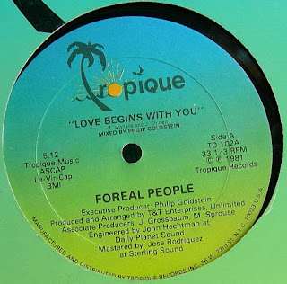 Foreal People - Love Begins With You 1981 12 inch