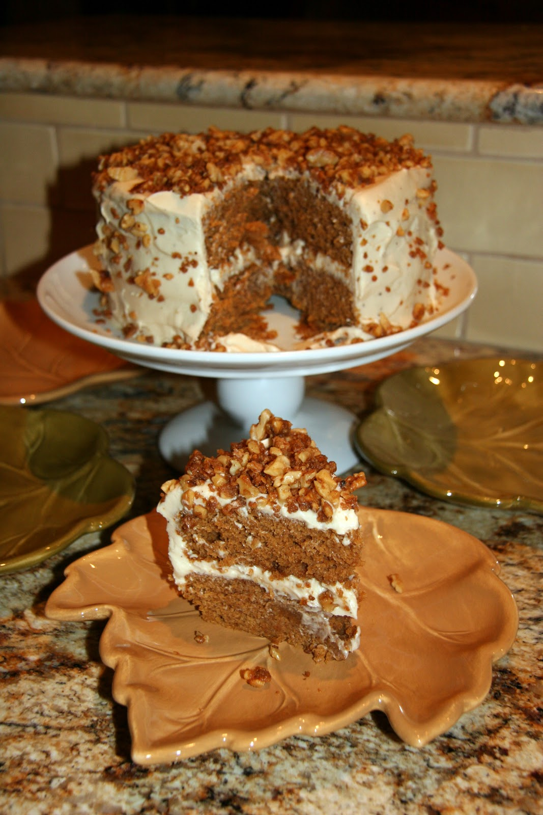 mom2mom cafe: Brown Butter Pumpkin Layer Cake
