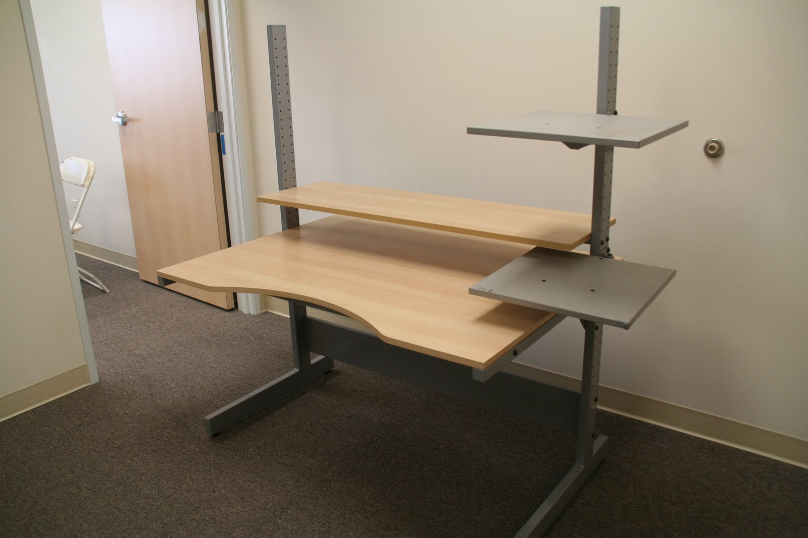 Office desks with shelves example for Ikea desk with shelf