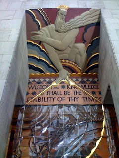 Rockefeller Center detail, November 2009, by A.E. Graves