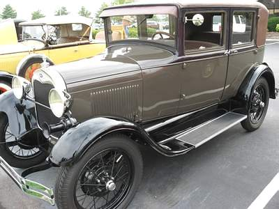Top Cars 1928 Model A Ford Leather Back