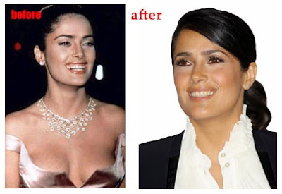 Salma Hayek Before After