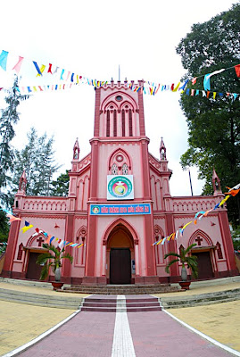 Over 130 year year old church in Thu Duc, Vietnam