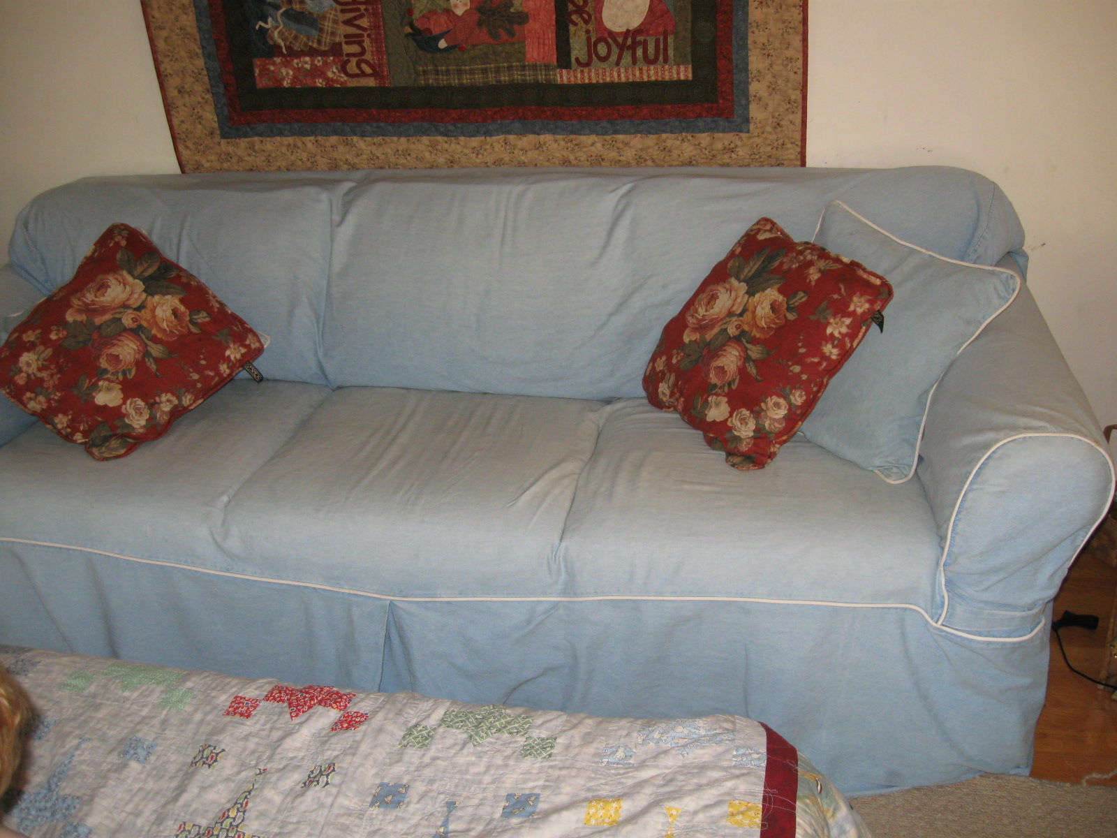 Moving Sale Broyhill Sleeper Sofa Loveseat With Slipcovers