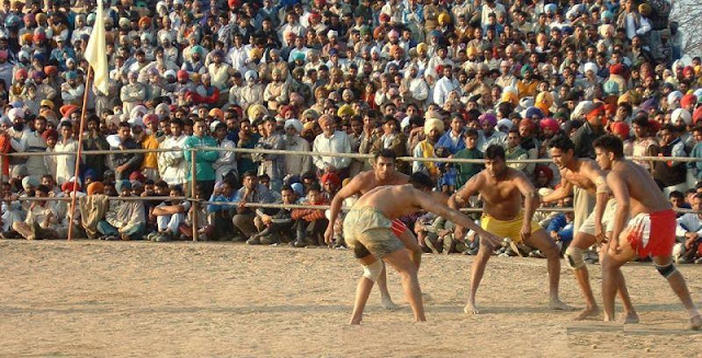 Crowed watching kabaddi