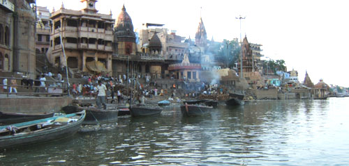 Burning Ghats - on the Banks of River Ganges - Varanasi