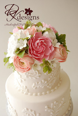 Cake Toppers With Flowers : DK Designs: Custom Cake Topper - Peonies, Ranunculus and ...