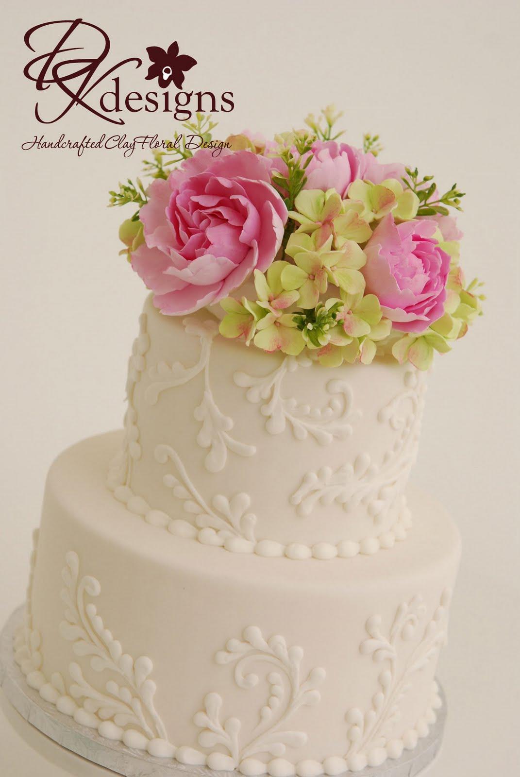 DK Designs: Custom Cake Flower Topper - Pink Peonies and ...