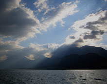 lac Annecy with clouds