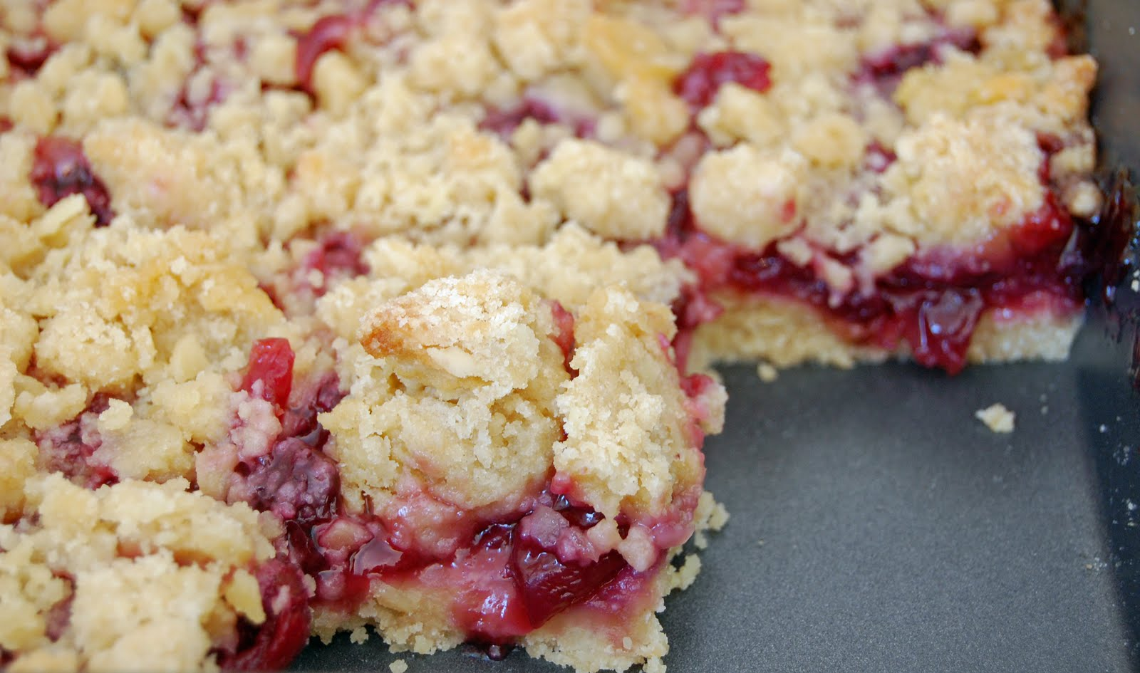 Rhubarb-Almond Bars Recipe — Dishmaps