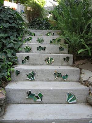 Kim Larson Art Mosaics More Mosaic Garden Stairs