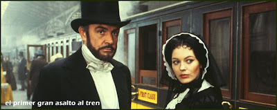 Sean Connery y Lesley Ann Down en 'El primer gran asalto al tren'