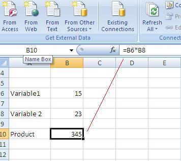 how to keep one variable constant in excel formula