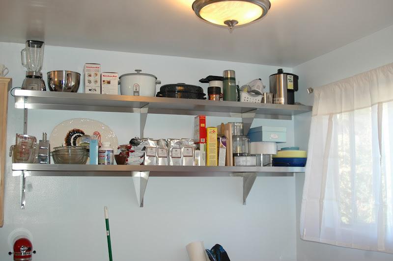 Restaurant Wall Stainless Steel Shelves