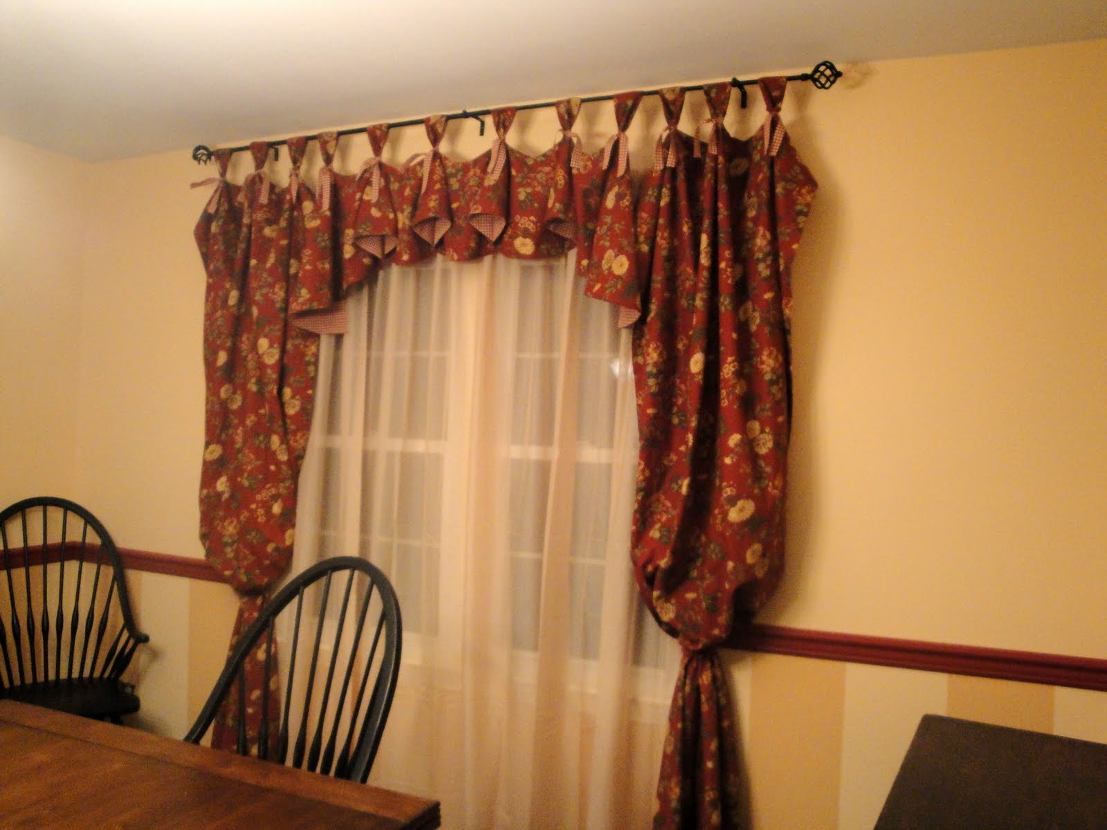 So many memories new dining room curtains for Dining room drapes