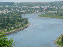 the Nistru River - Moldova on the left, Ukraine on the right