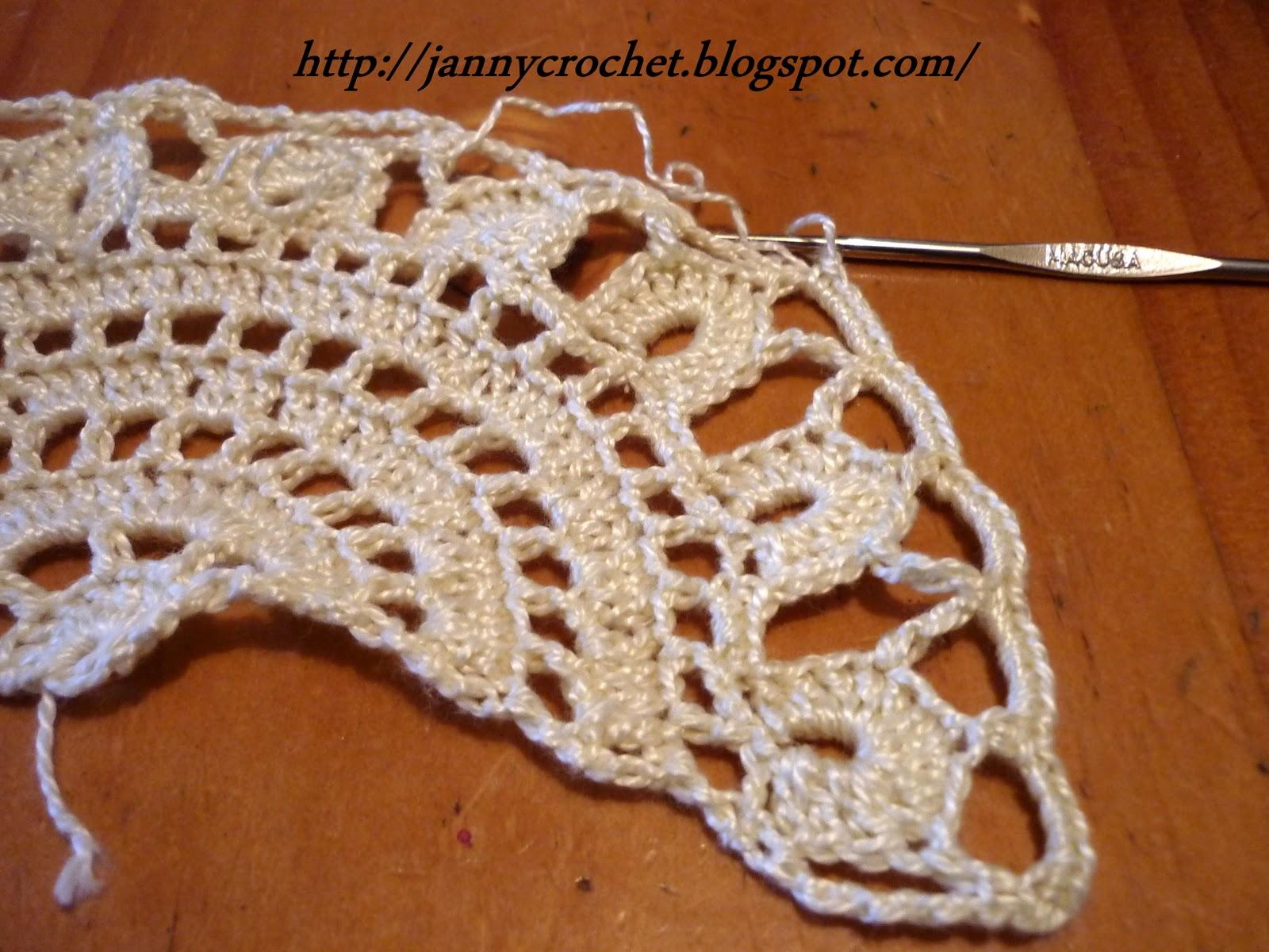 Janny crochet: Paso a paso 10 de la Polera Fusión