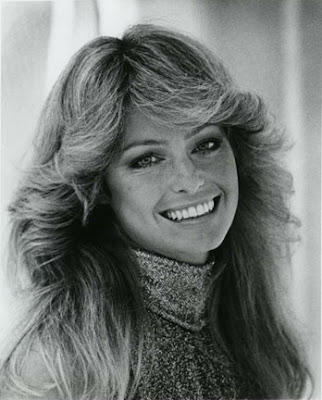 farah fawcett hairstyle. Farrah Fawcett, who was famous with her dynamic role on TV's Charlie's