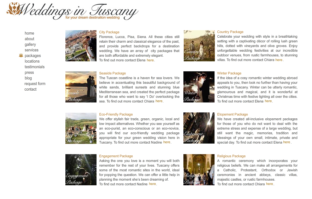 New Wedding Packages Exclusive Wedding Planner In Tuscany Luxury