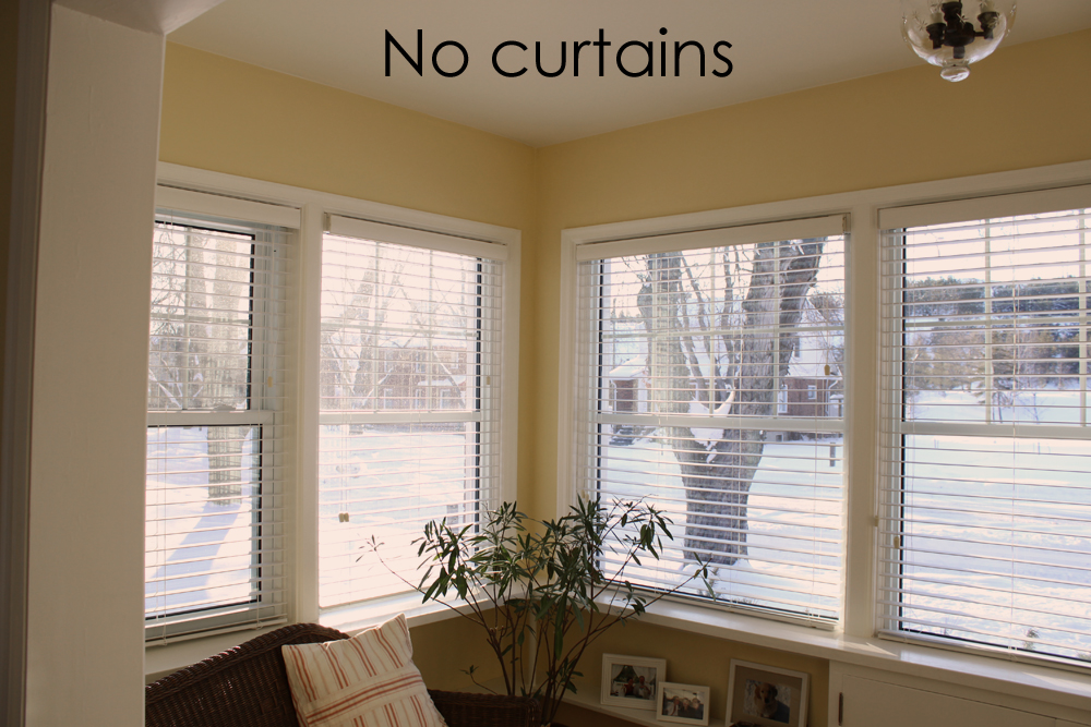 Cozy.Cottage.Cute.: Curtains For The Sunroom. Finally!