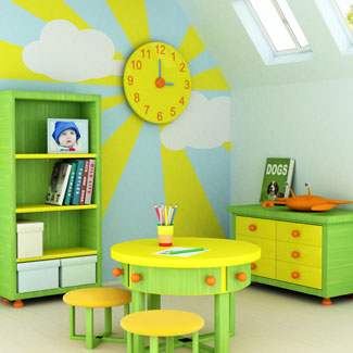 Kids room décor for kids room interior