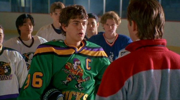 Joshua Jackson in the The Mighty Ducks 3