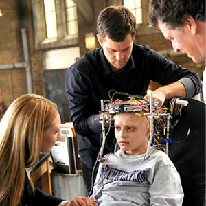 Olivia, Peter, Walter, and a young observer(?) in Fringe Episode 'Inner Child'