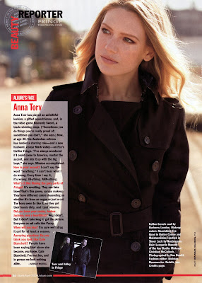 Fringe's Anna Torv (Olivia Dunham) in the April 2009 issue of Allure