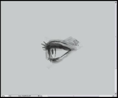 how to draw eyes side view