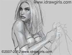 How to draw woman comics Emma Frost