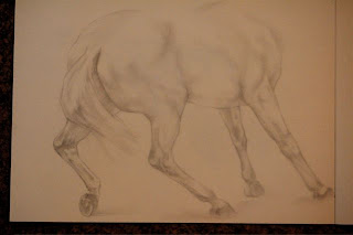 sketch of horse by ophelia keys