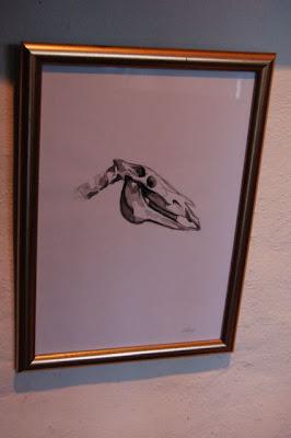 ophelia keys horse skull painting