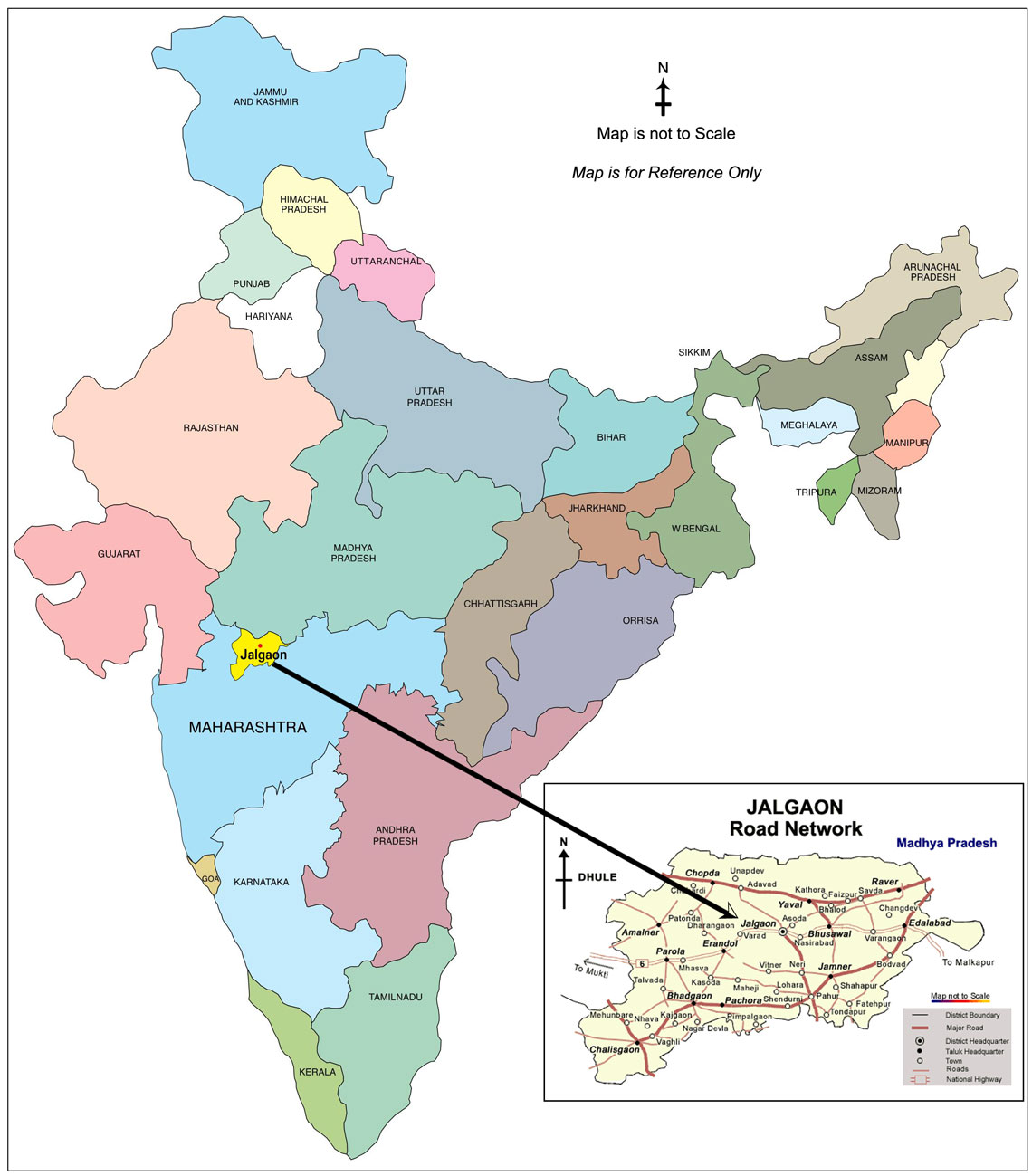 Jalgaon India  city photos : Jalgaon District Taluka Map