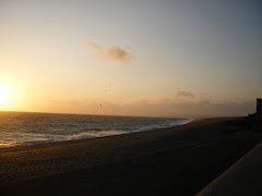 Chesil Cove at Sunset