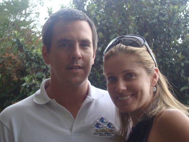 Jag och min fru i Costa Rica