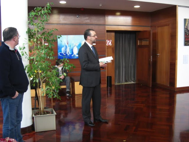 The speech of the Mayor José Figueiras