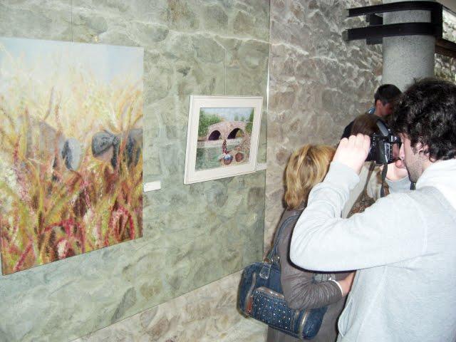 The works Célia Alves and Monique Laville