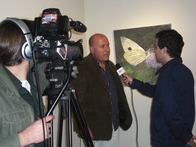The Artist Antonio Dulcídio giving an interview to TV