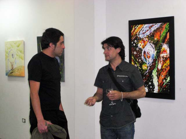 The works of Carlos Godinho and Lucia Sandroni with guests